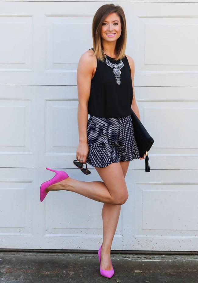 pardon muah, fashion, style, hot pink pumps