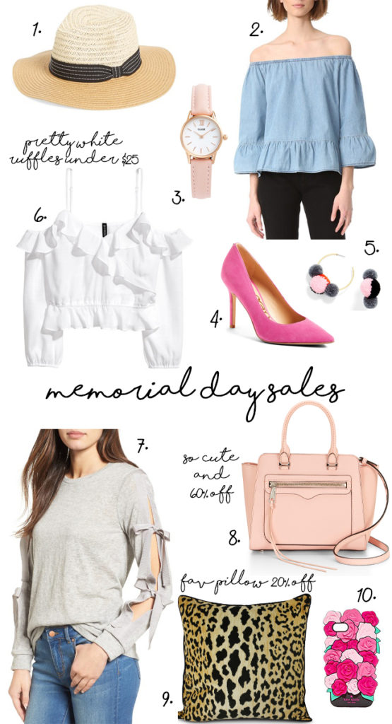 Memorial Day Sales on fashion and accessories