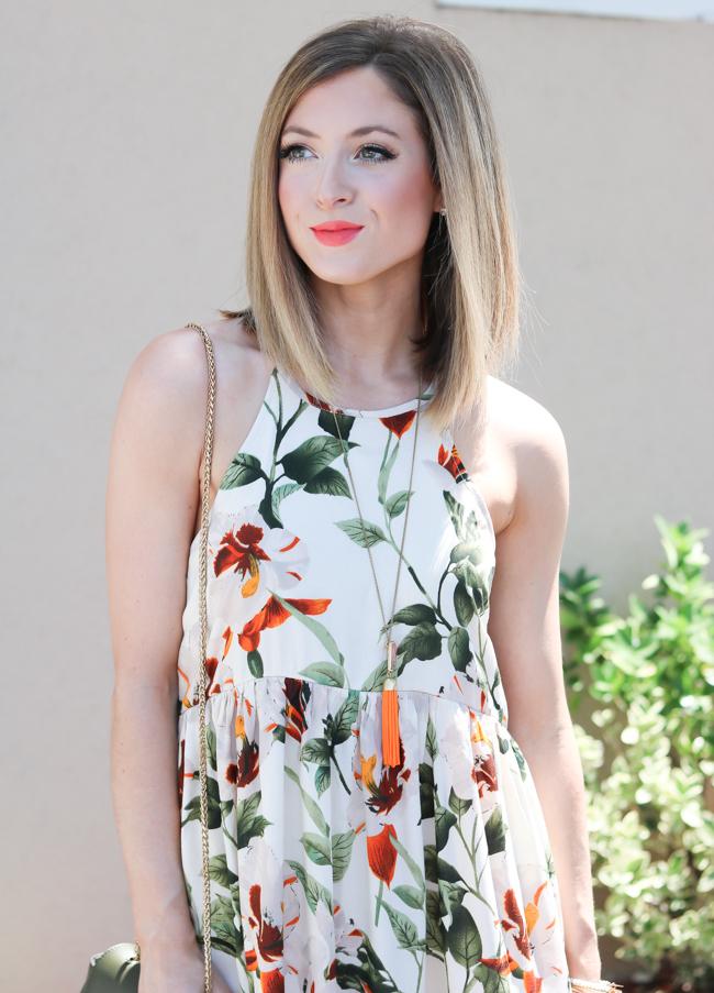 tropical summer floral dress