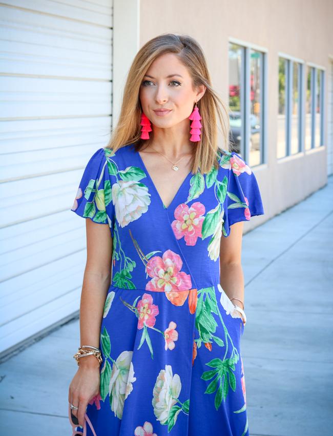 royal floral wrap dress dottie couture boutique