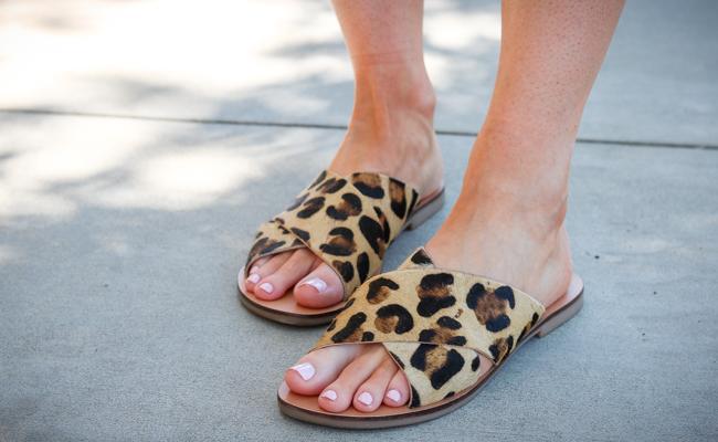 topshop animal print sandals