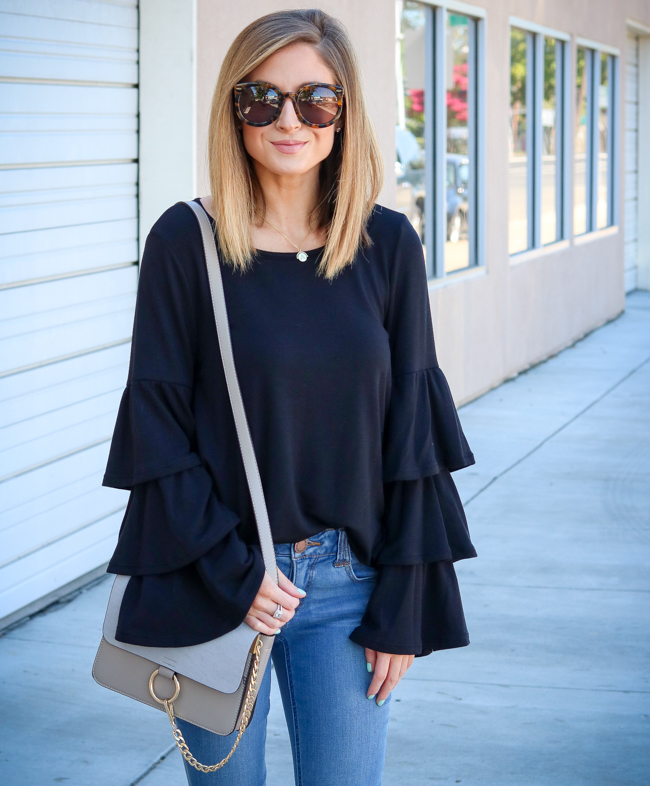 pleione tiered bell sleeve knit top nordstrom anniversary sale 2017