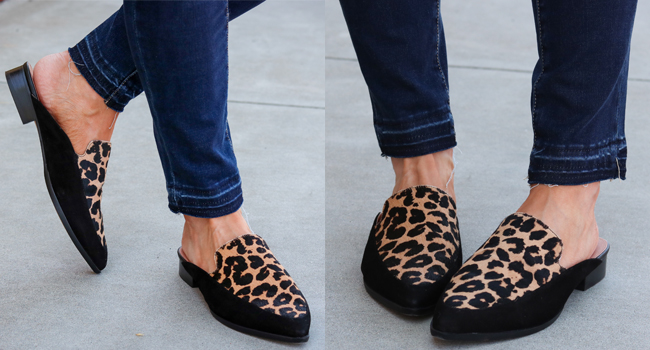 halogen leopard loafers