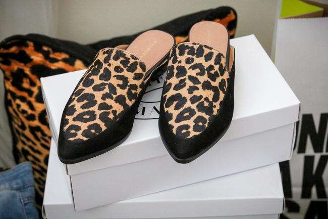 halogen leopard loafers