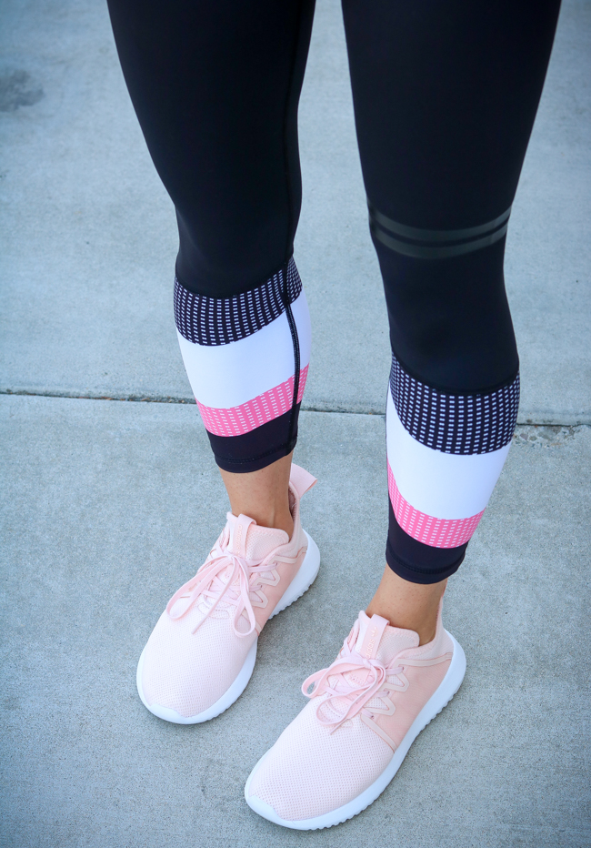 lilybod legginds and adidas sneakers