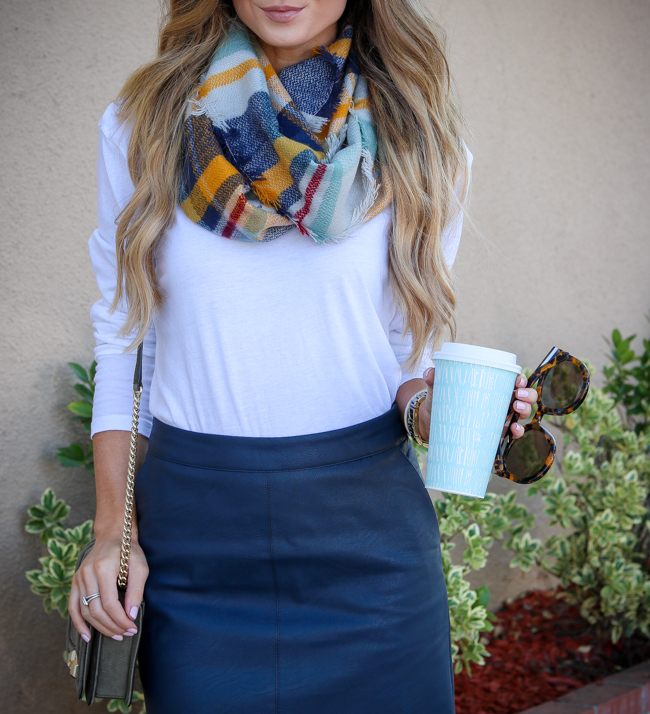frou frou & frill plaid infinity scarf topshop skirt