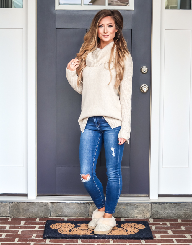 nordstrom ugg sweater and slippers