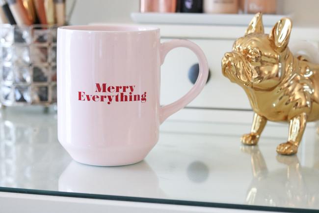 merry everything christmas mug