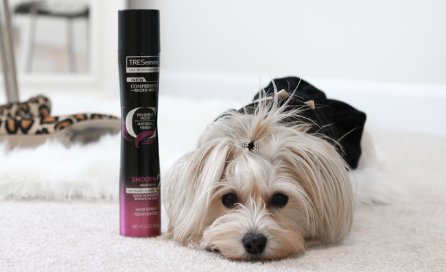 TRESemme micro-mist hair spray hair tutorial
