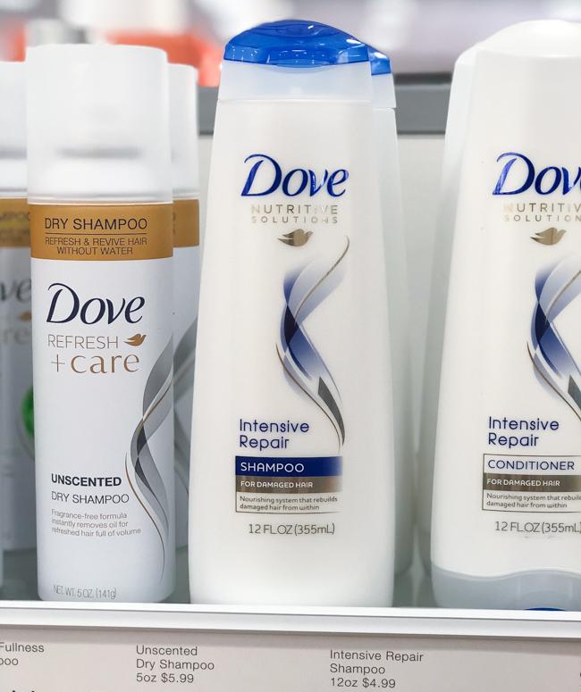 dove intensive repair shampoo and conditioner