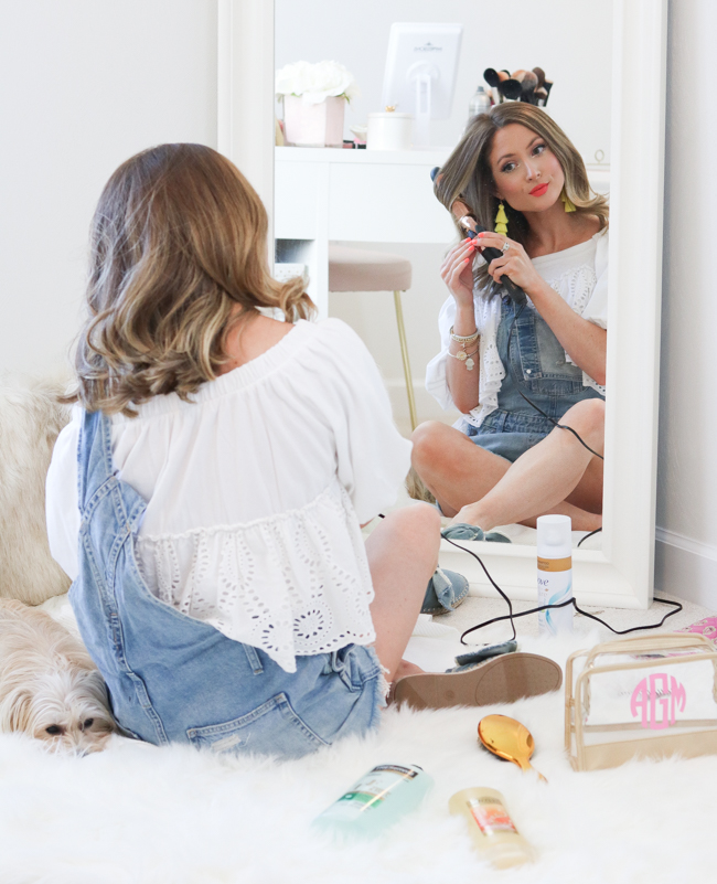 curling hair with target rose gold  curling iron