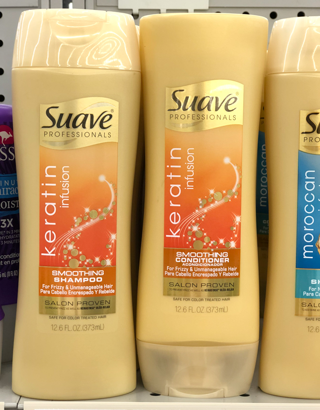 suave keratin infusion shampoo and conditioner