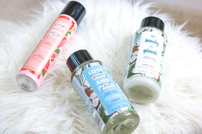 love beauty and planet shampoo conditioner dry shampoo