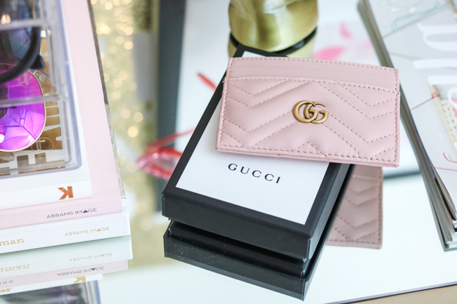 gucci pink gg marmont card case