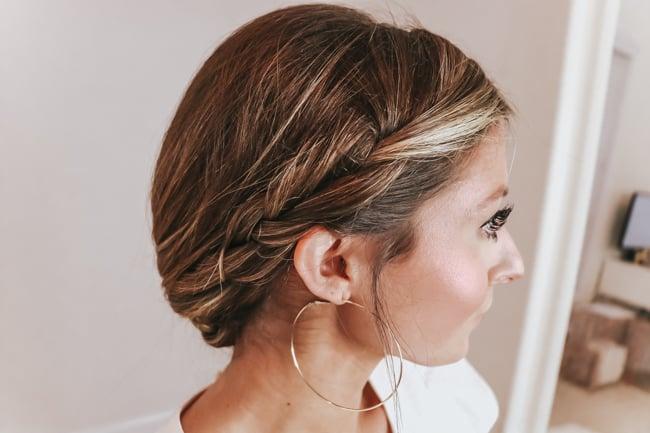 summer side braid