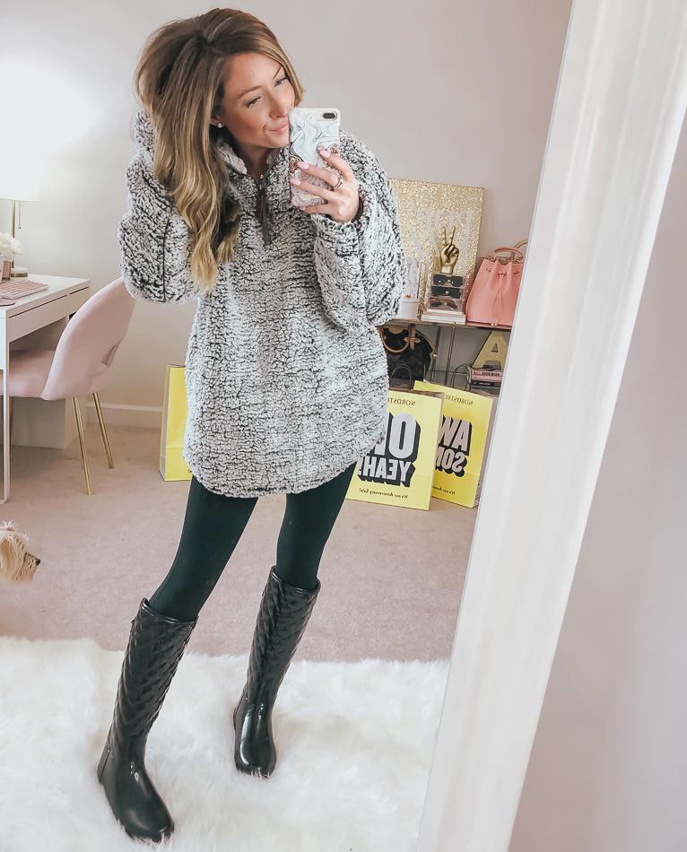 nordstrom wubby fleece pullover