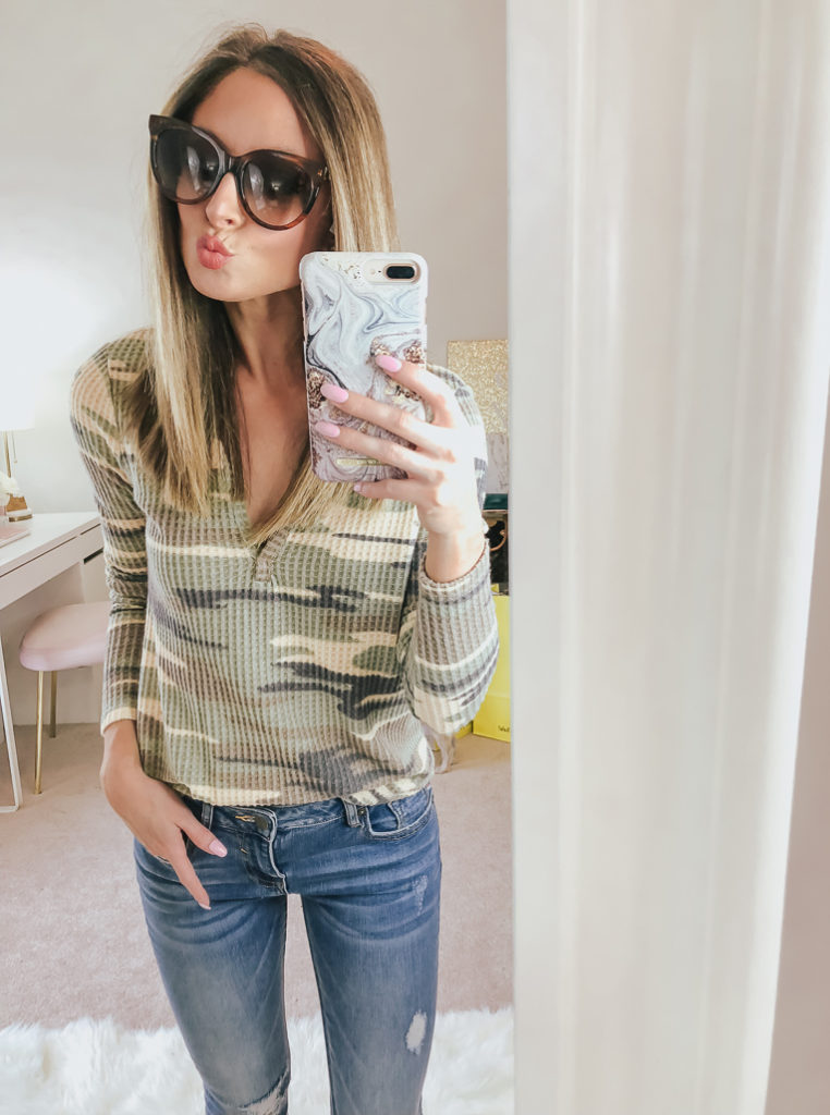 nordstrom socialite thermal henley top