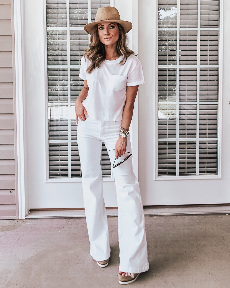 express white flared jeans