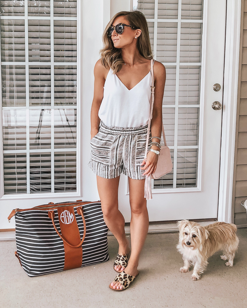marley lilly striped weekender bag