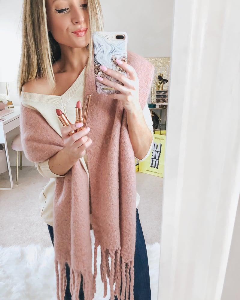 nordstrom shiraleah pink tyler scarf