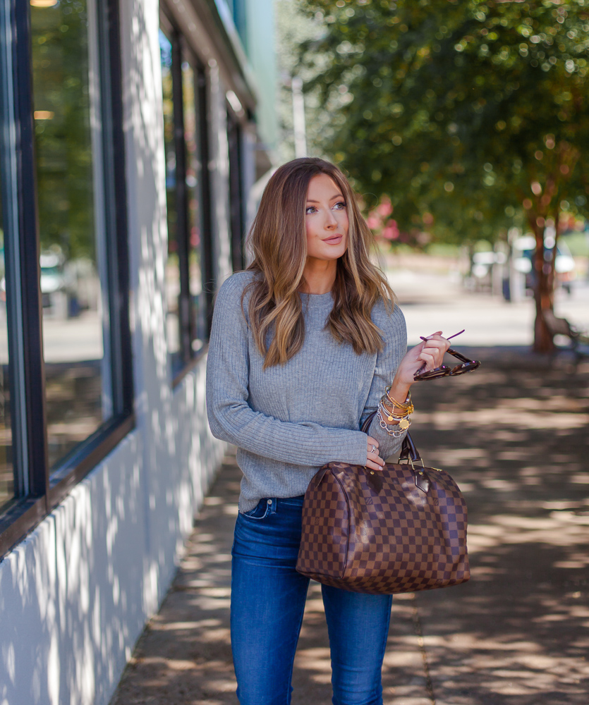 nordstrom bp grey easy ribbed sweater