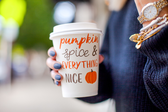 target dollar spot pumpkin spice and everything nice to go cup
