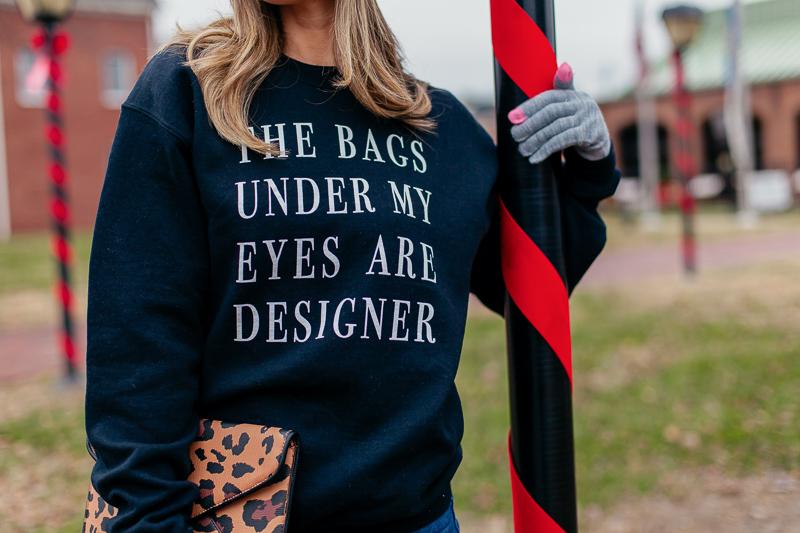 nordstrom ten sixty sherman black bags under my eyes sweatshirt