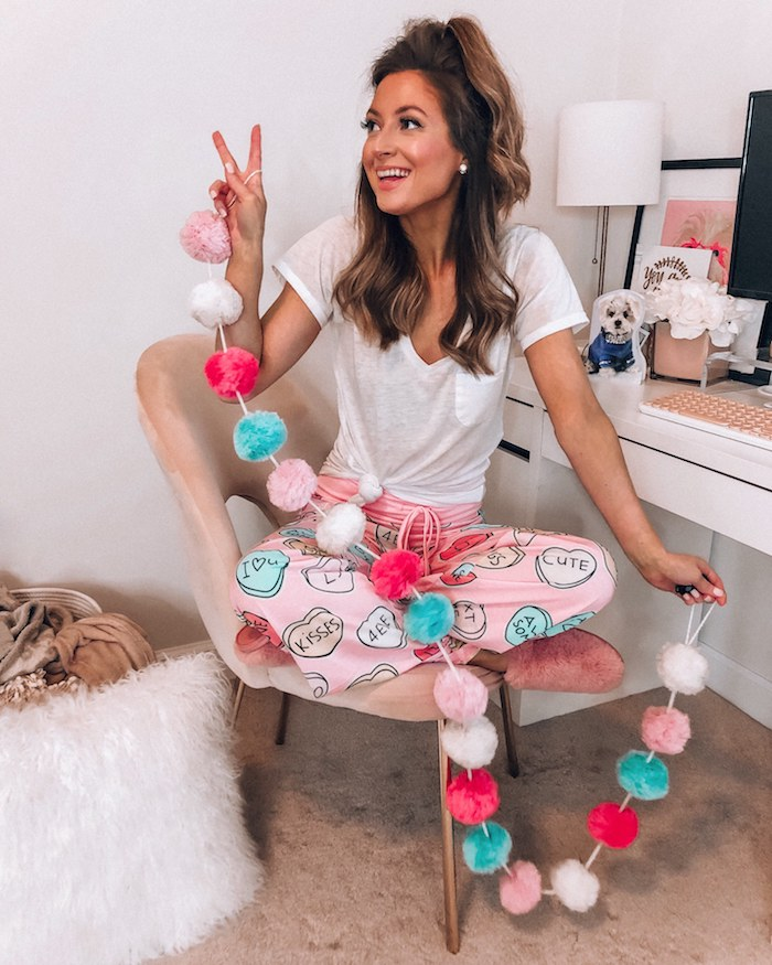 shop i love jewelry candy hearts pajama pants