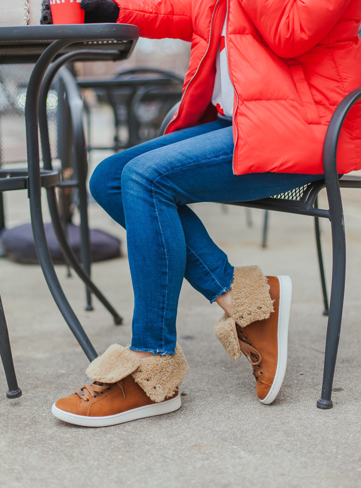 ugg starlyn genuine shearling lined boot