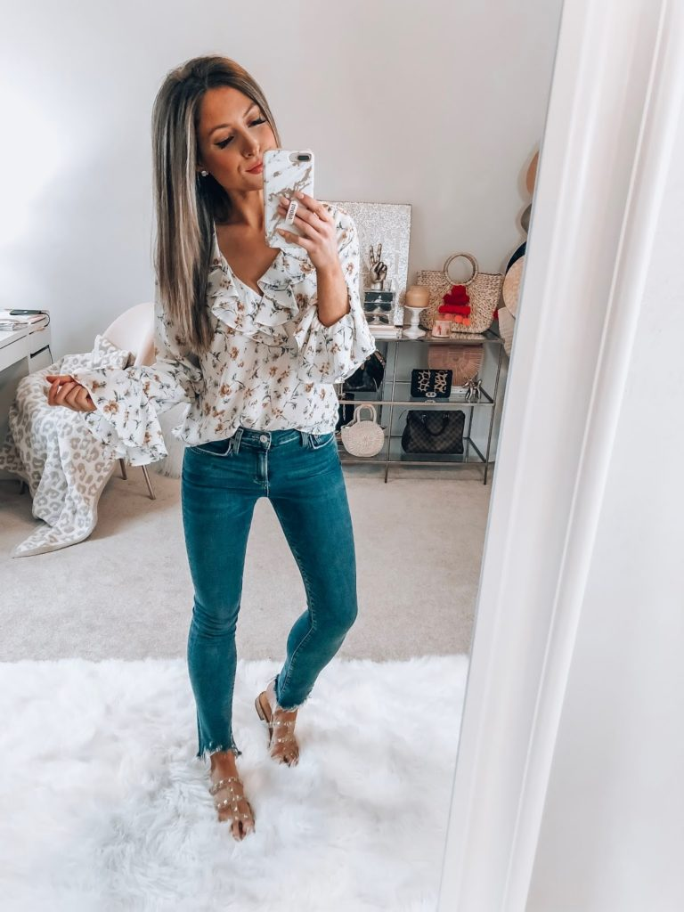 nordstrom cece duchess floral blouse