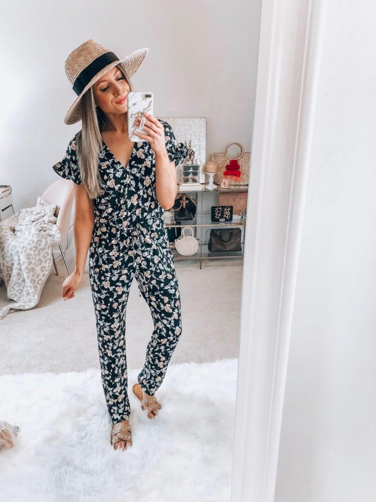 nordstrom cece duchess floral print faux wrap jumpsuit