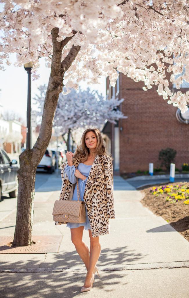 nordstrom ali & jay chambray in bloom georgette asymmetrical dress