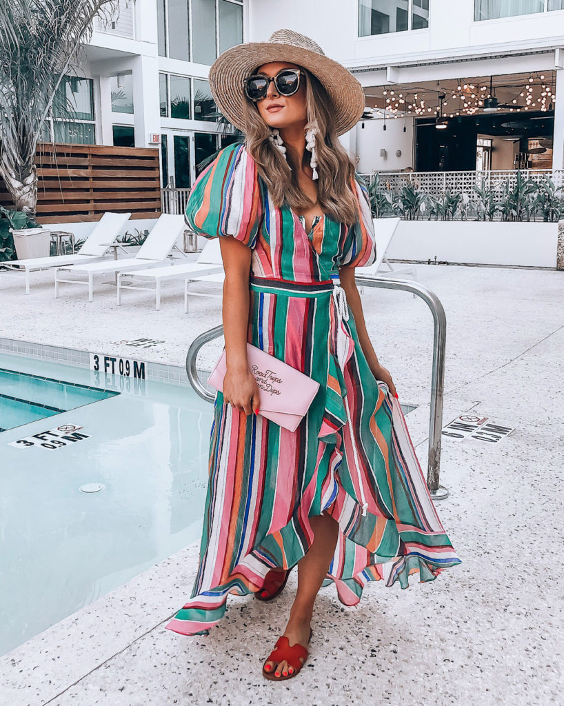lulus striped coverup