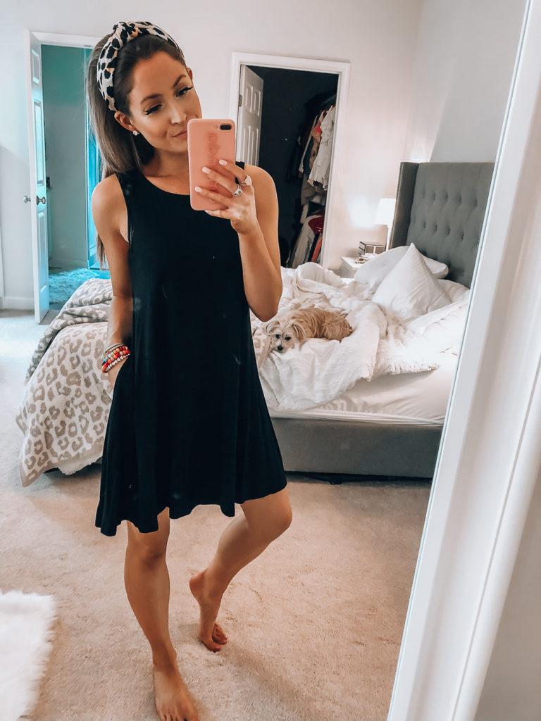 amazon black tank dress