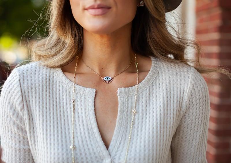 nordstrom kendra scott gold rue long station necklace