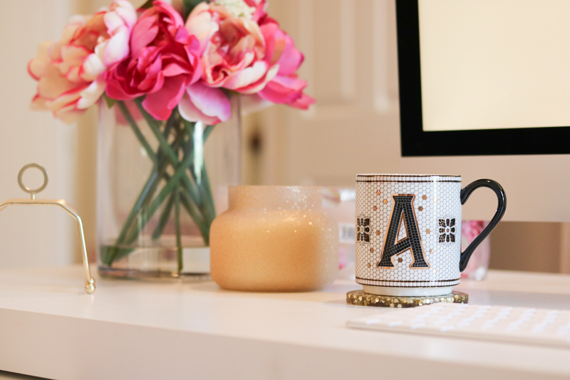 anthropologie tiled margot monogram mug