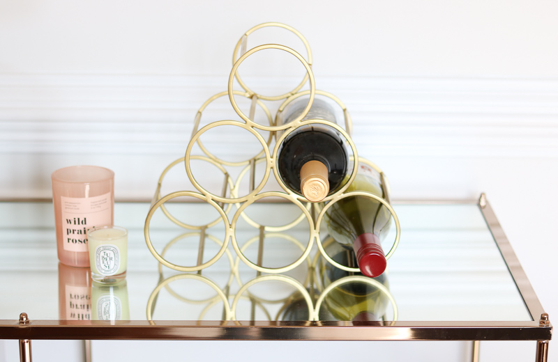 nordstrom gold wine rack