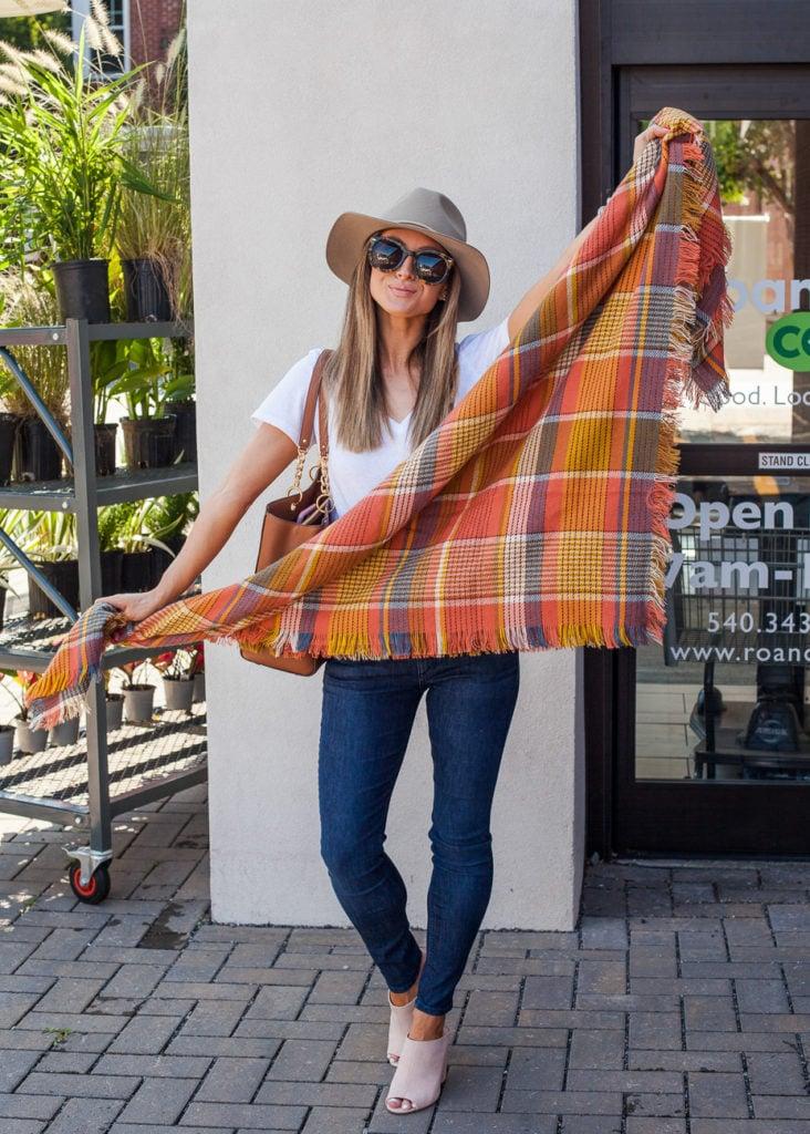 nordstrom madewell plaid blanket scarf