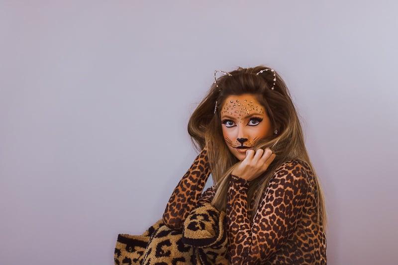 halloween leopard makeup tutorial