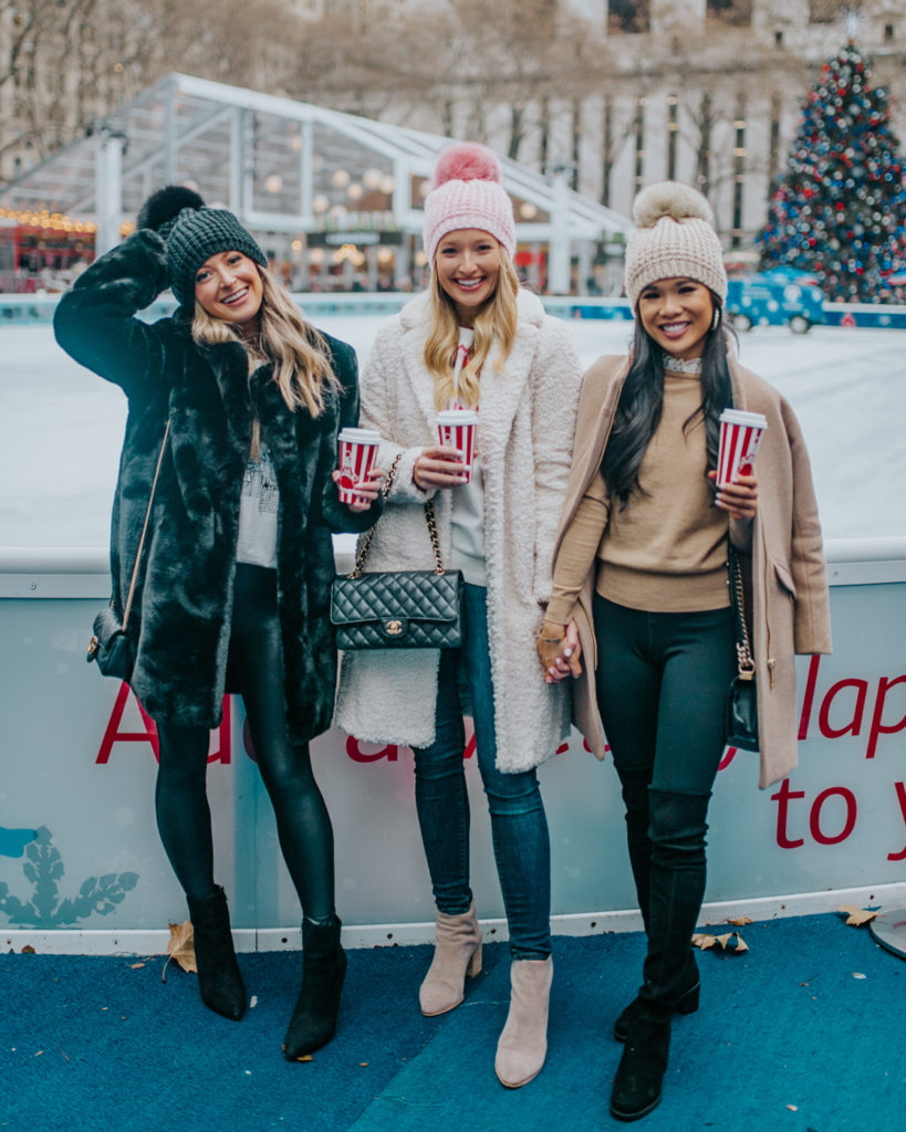 liketoknow.it takeover sip & shop winter outfits at bryant park christmas market