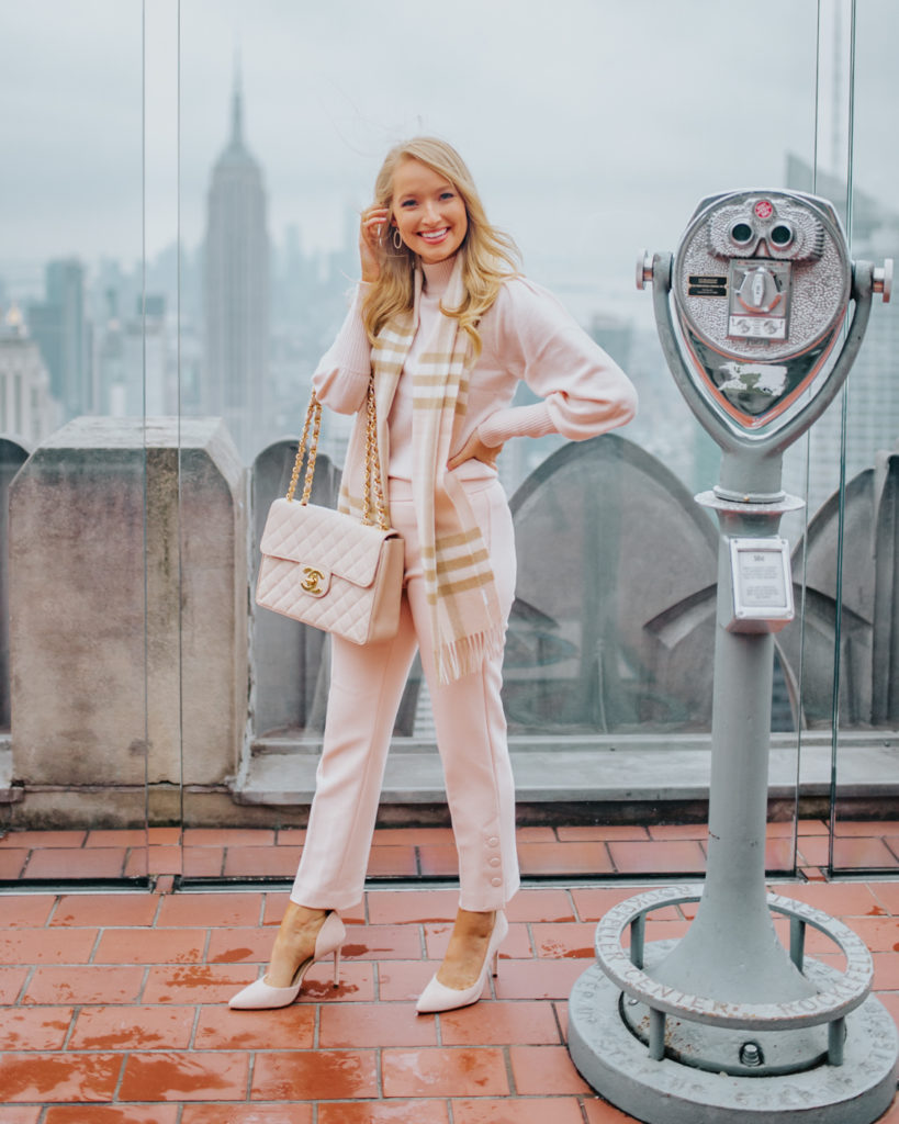 liketoknow.it takeover blush pink monochromatic outfit at top of the rock