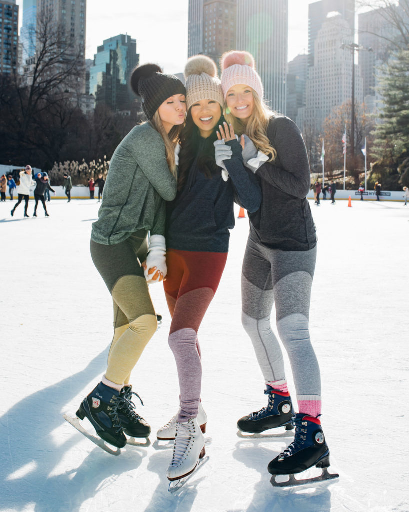 liketoknow.it takeover outdoor voices athleisure wear at central park ice skating rink