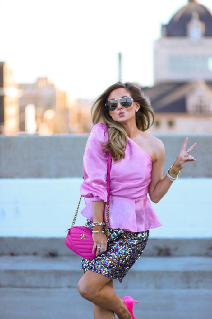 revolve majorelle nico top princess pink
