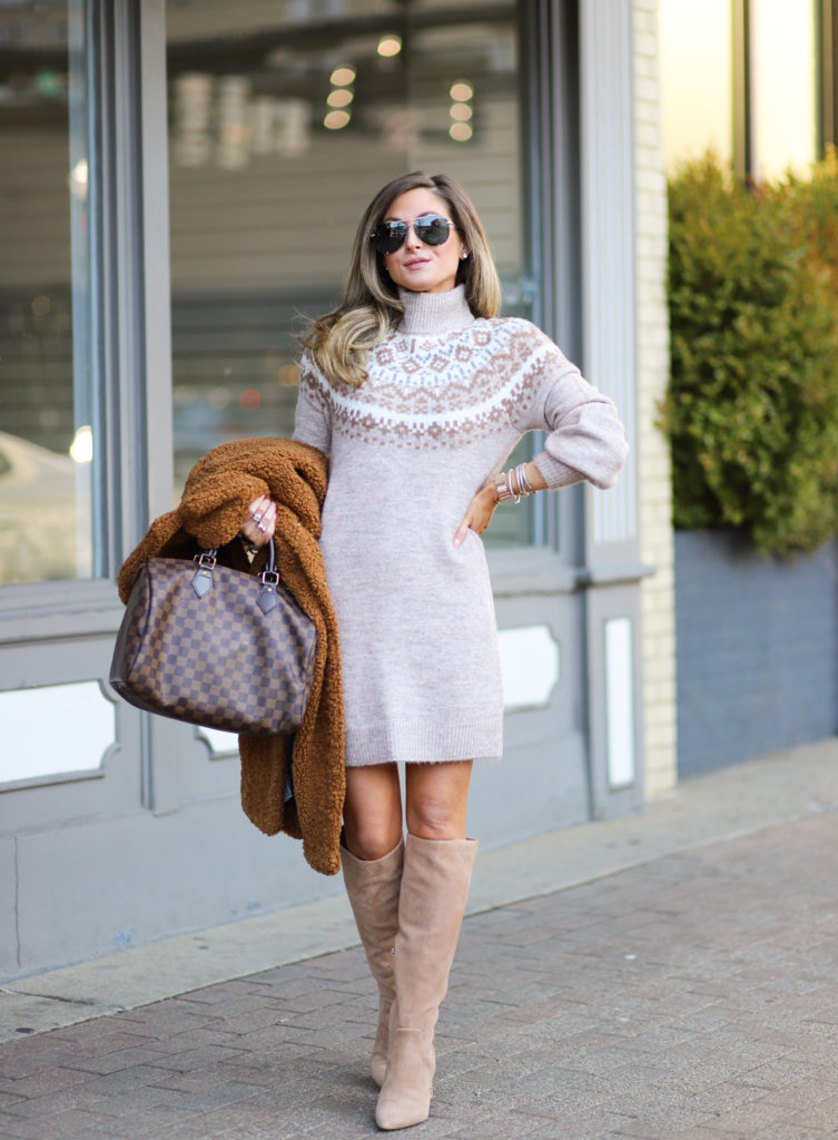 abercrombie mock neck sweater dress