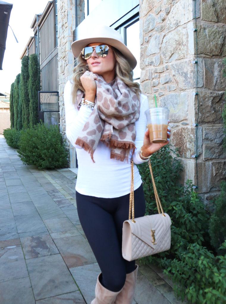anthropologie neutral motif reversible leopard scarf