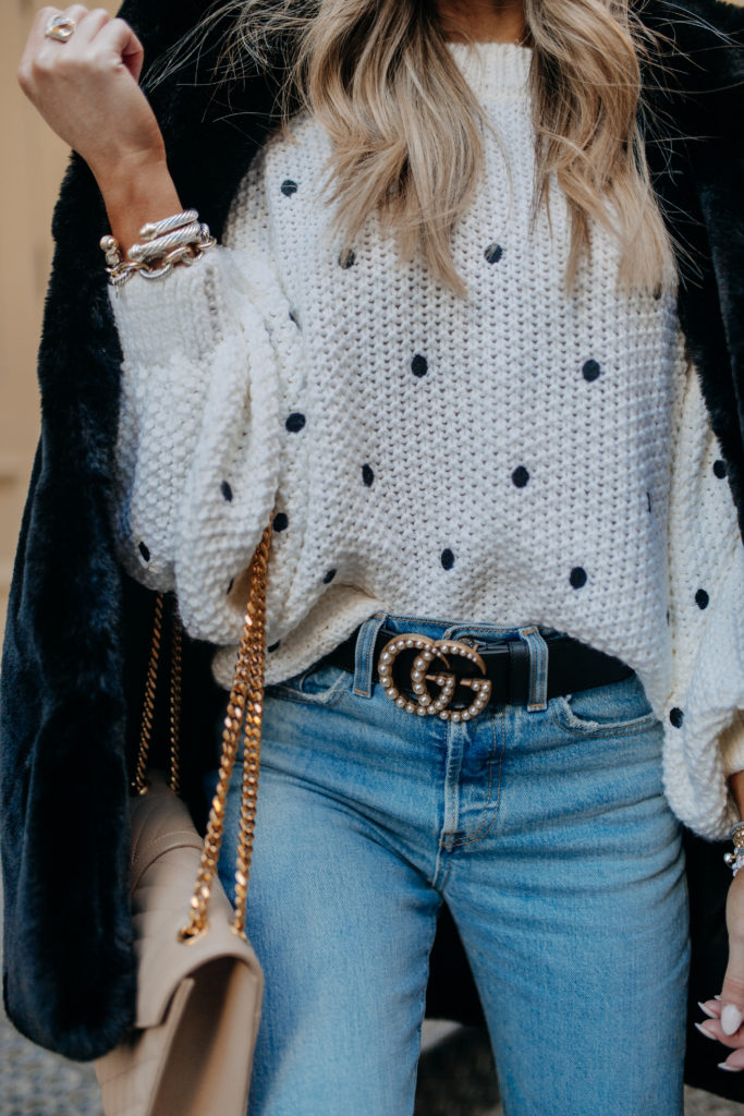 nordstrom topshop white spot embroidered sweater
