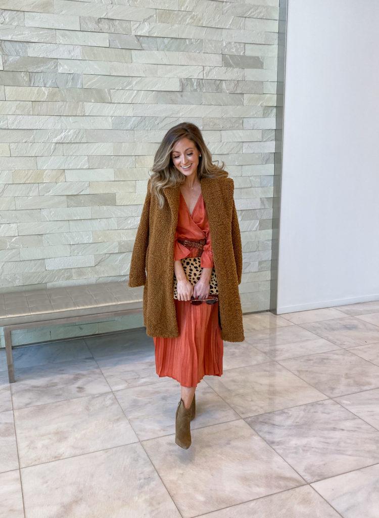 orange vici dress