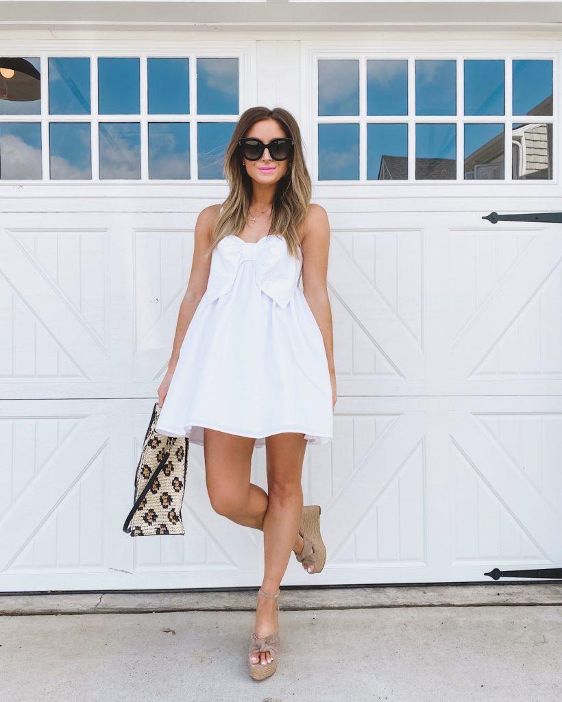 revolve white bow dress