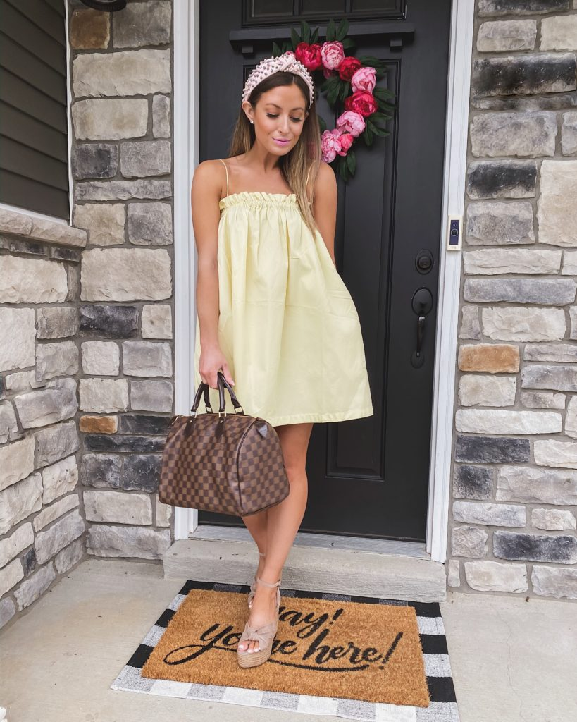 revolve yellow babydoll dress