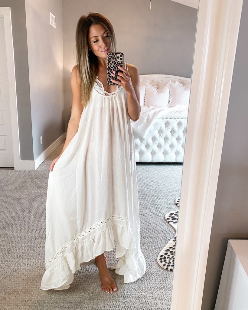 nordstrom free people white maxi dress